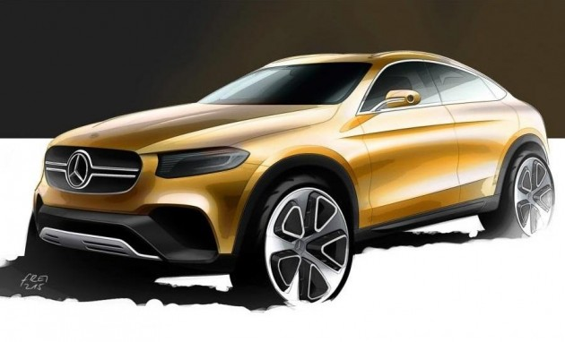 Mercedes-Benz GLC coupe sketch