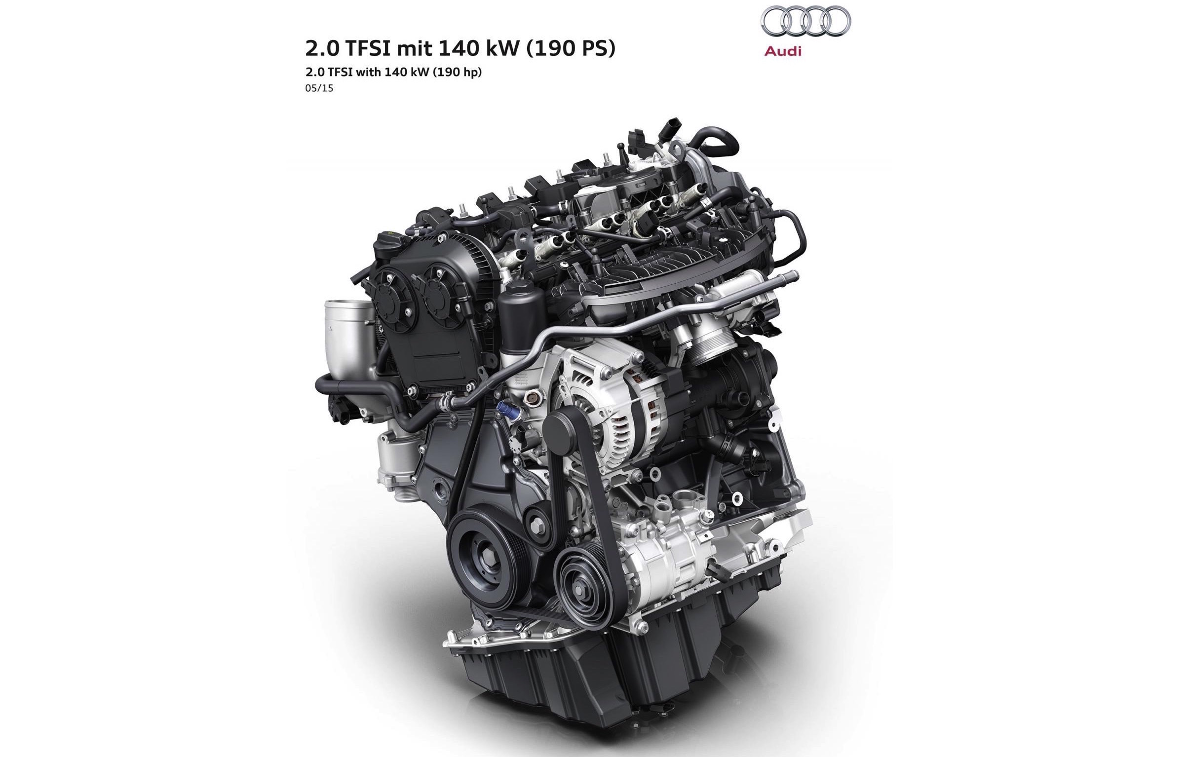 audi debuts new 2 0 tfsi engine uses 39 rightsizing. Black Bedroom Furniture Sets. Home Design Ideas
