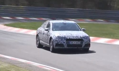 Video: 2016 Audi 'B9' A4 spied on the Nurburgring