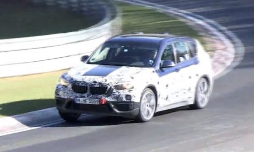 Video: 2016 BMW X1 spotted at Nurburgring, new FWD layout
