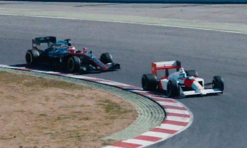 Video: Alonso & Button take Senna's McLaren MP4-4 for a spin