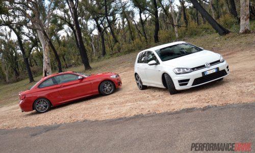 BMW M235i vs Volkswagen Golf R: performance comparison (video)