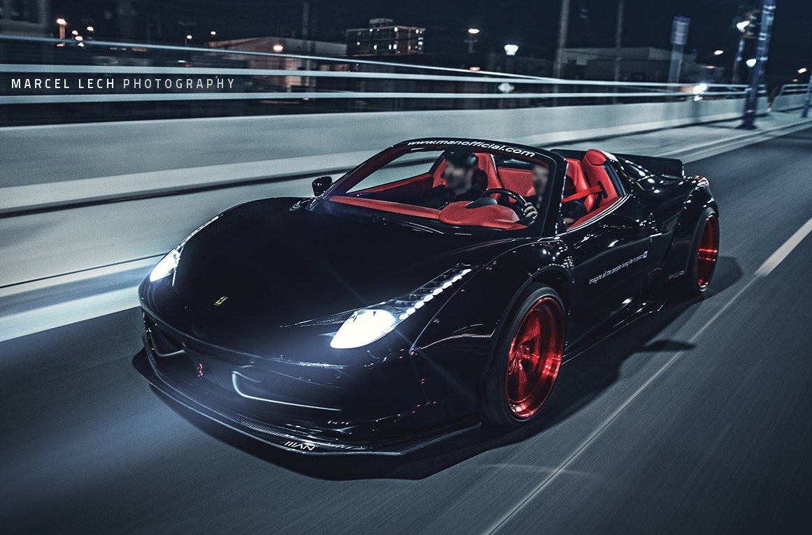 Slammed Liberty Walk Ferrari 458 Spider Is Insane