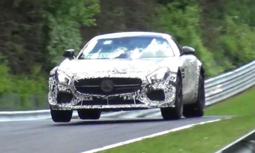 Video: Mercedes-AMG GT prototype spotted with unique aero kit