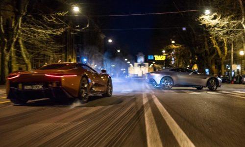 Aston Martin DB10 & Jaguar C-X75 tear up Rome in SPECTRE trailer