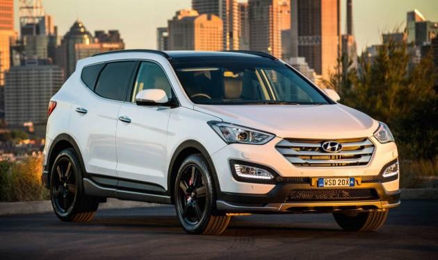 2015 Hyundai Santa Fe SR-white