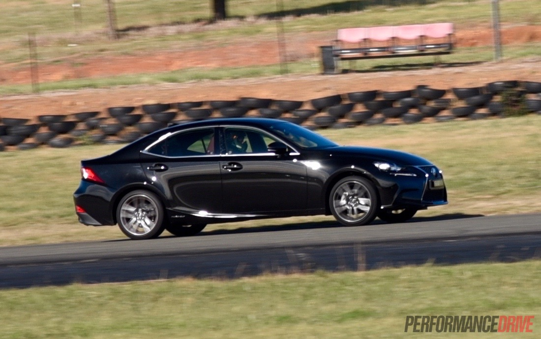 lexus is 300h f sport track test can you have fun in a hybrid video performancedrive. Black Bedroom Furniture Sets. Home Design Ideas