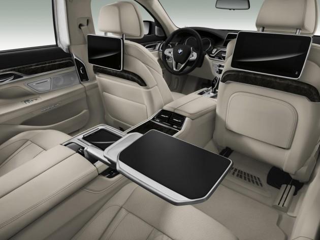2016 BMW 7 Series-rear seats