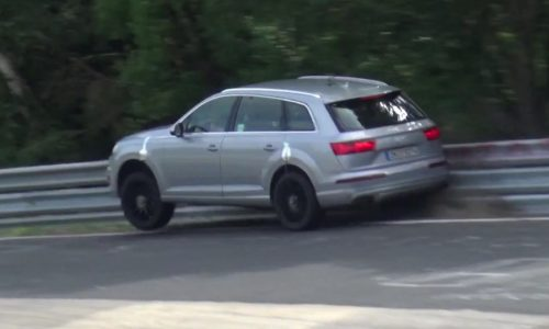 Video: Audi SQ7 prototype spotted, crashes on Nurburgring