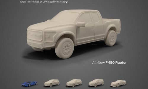 Ford opens 3D Store, customers can 3D print model cars