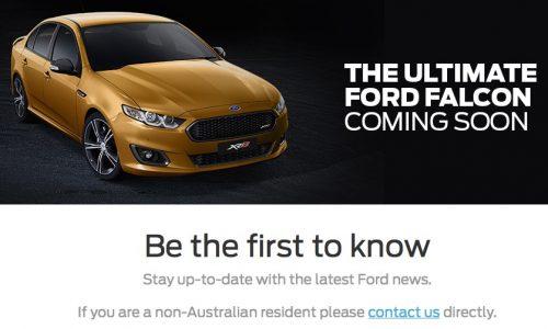 "Ford Australia website confirms ""ultimate Falcon""?"
