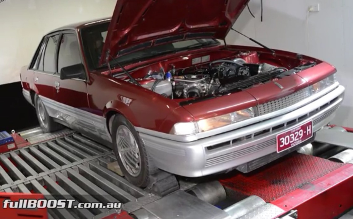 Video: Sleeper Holden VL Calais turbo produces 734kW ATW ...