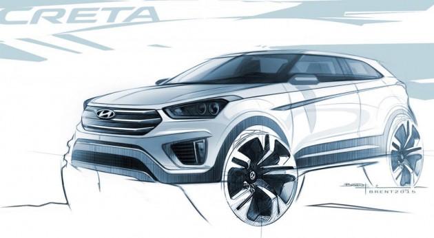 Hyundai Creta sketch