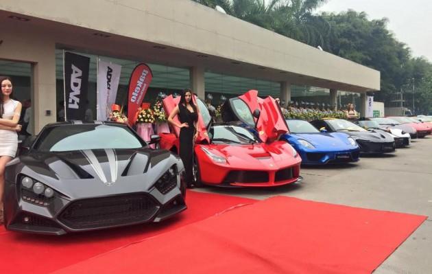 Impressive Wrap launch-supercar lineup-