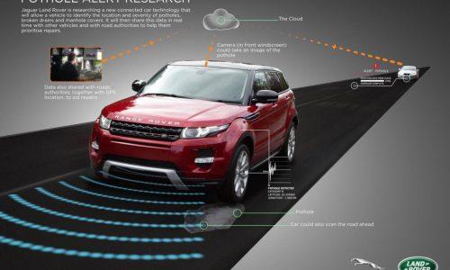 Jaguar Land Rover developing pothole alert technology