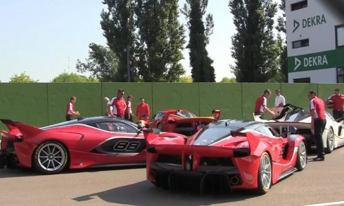 Video: 4 LaFerrari FXX K hypercars at Imola is a spectacular sight