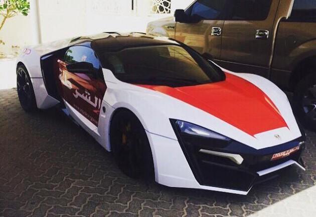 Lykan Hypersport Dubai police
