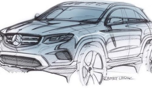 Mercedes-Benz GLC previewed, new C-Class-size SUV