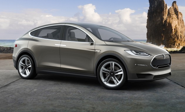 top SUVs Tesla Model X teaser