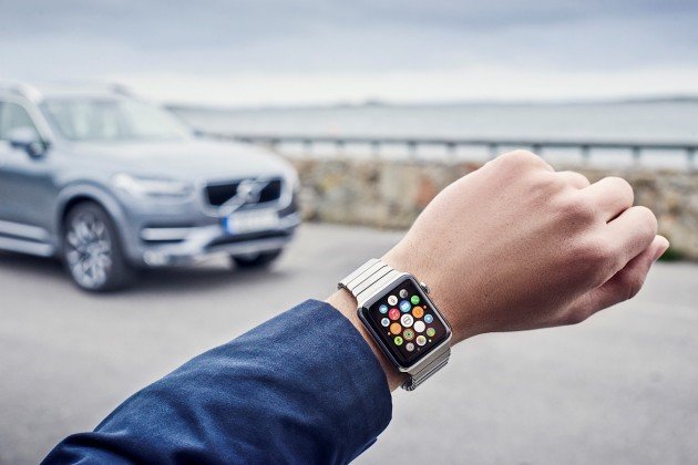 Volvo On Call app on the Apple Watch
