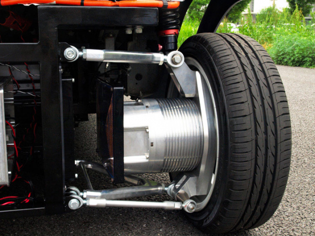 Wireless in-wheel electric motor