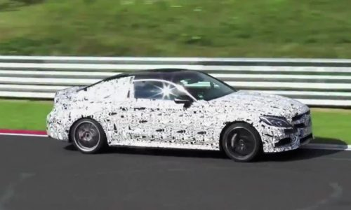 Video: 2016 Mercedes-Benz C 63 AMG Coupe spotted