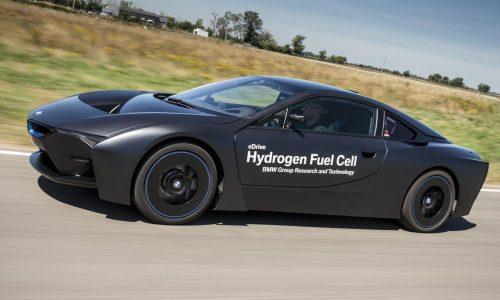 BMW i8 hydrogen fuel cell research prototype shows its face