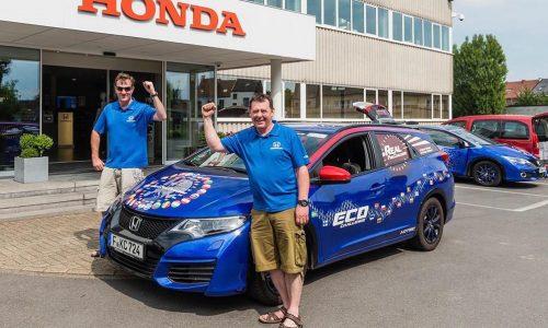 Honda Civic i-DTEC sets lowest fuel consumption world record