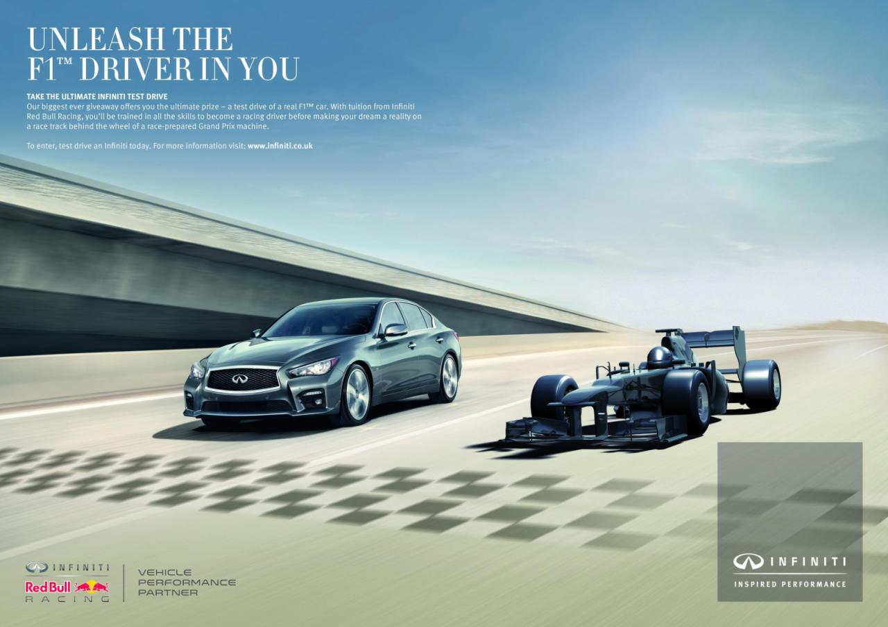 Infiniti offering customers a chance to drive an F1 car