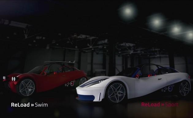 Local Motors ReLoad Swim and ReLoad Sport