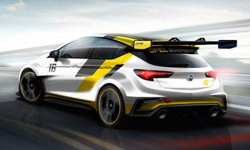 Opel Astra TCR racing car previewed, debuts at Frankfurt