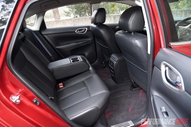 2015 Nissan Pulsar SSS sedan-rear seats
