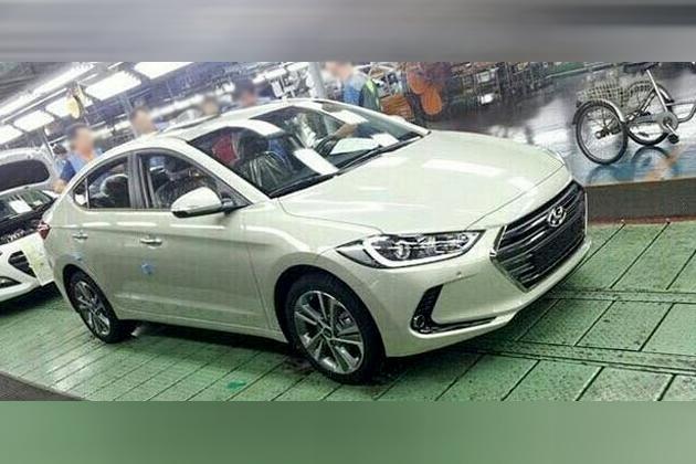 2016 Hyundai Elantra at factory-front