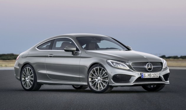 2016 Mercedes-Benz C-Class Coupe-silver