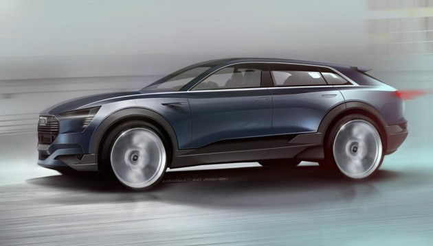 Audi e-tron quattro concept sketch