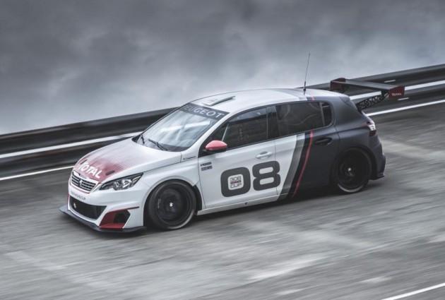 Peugeot 308 Racing Cup car-driving