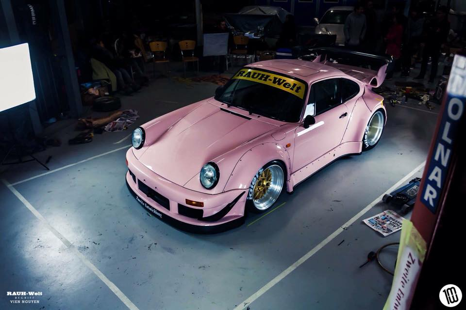 rauh welt makes special pink porsche 911 for australian. Black Bedroom Furniture Sets. Home Design Ideas