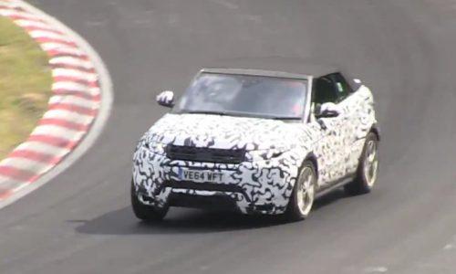 Range Rover Evoque cabrio prototype spotted at Nurburbring (video)