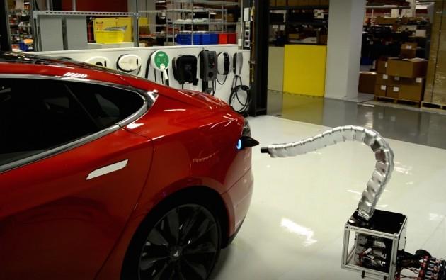 Tesla recharge arm