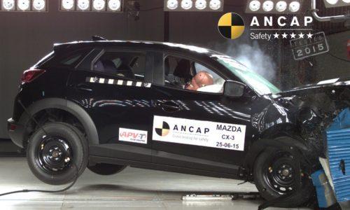 Mazda2, Mazda CX-3 awarded 5-star by ANCAP, Audi TT only 4 stars