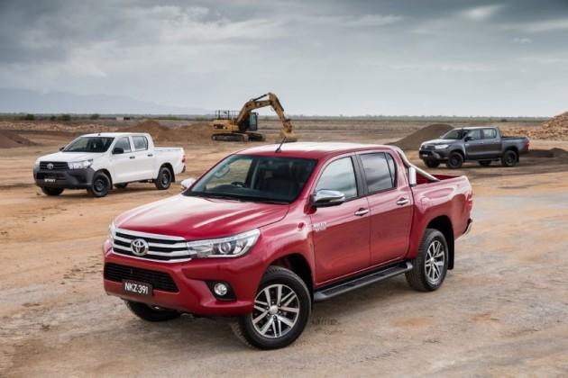 2016 Toyota HiLux range