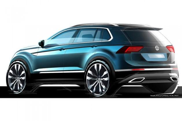 2016 Volkswagen Tiguan sketch-rear