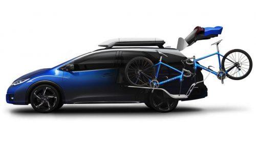 Honda Civic Tourer Active Life concept gets special bike carrier
