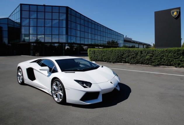 Lamborghini Aventador at factory
