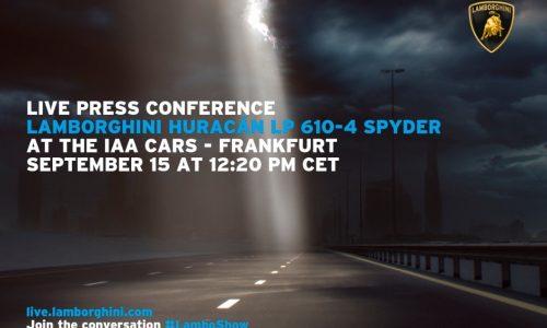 Lamborghini Huracan Spyder confirmed for Frankfurt