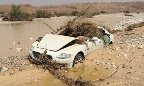 Maserati Quattroporte found, flood-wrecked & abandoned