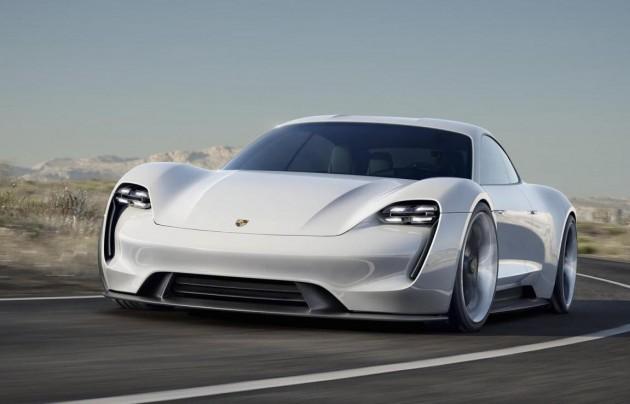 Porsche Mission E concept-front