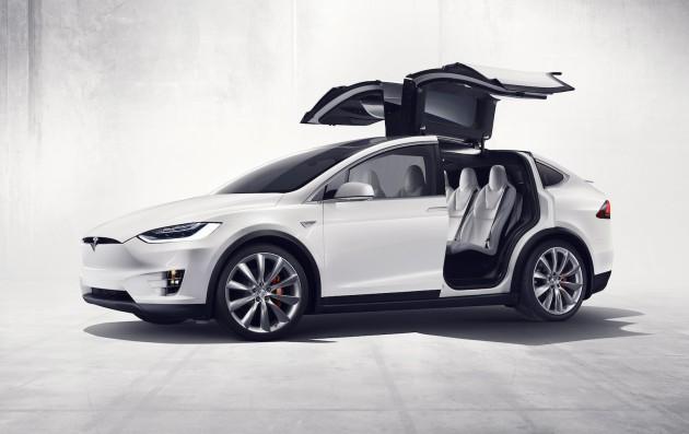 Tesla Model X-Falcon doors