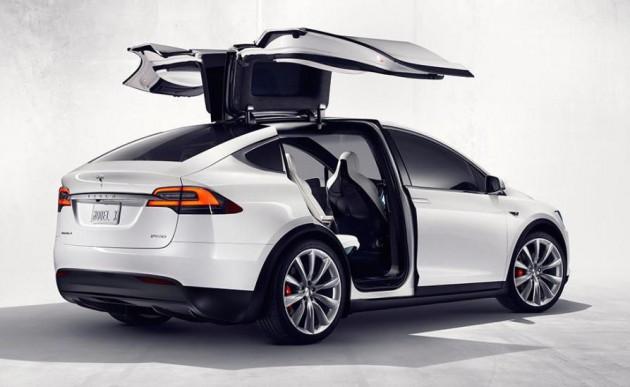 Tesla Model X-rear doors