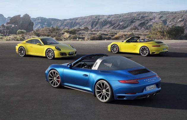 2016 Porsche 911 Carrera 4 range